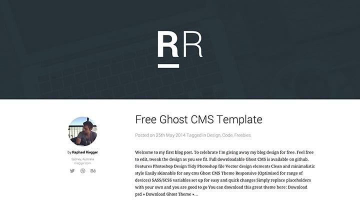 Minimalistic Ghost CMS Theme