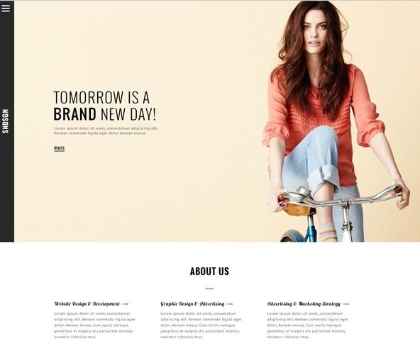 Modern Fashion Single Page Template PSD