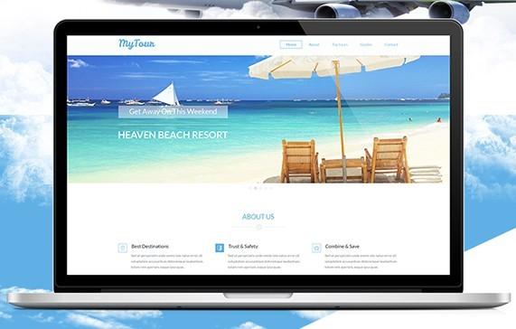 MyTour Travel Website PSD Template