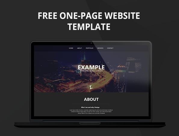 One Page Portfolio Website Template PSD