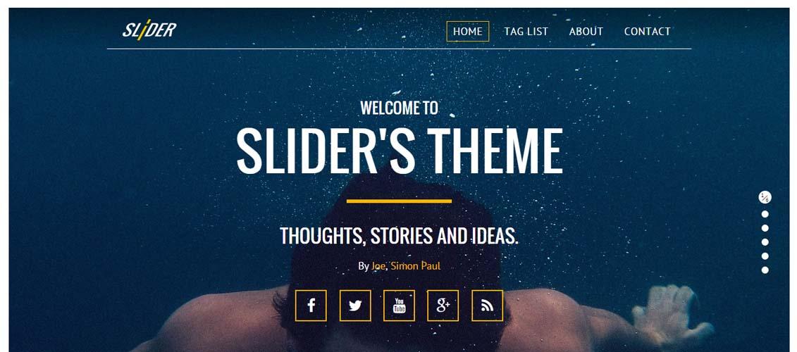 Slider - Responsive, Media Driven Ghost Theme