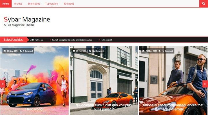 SybarMagazine - News Magazine WordPress Theme