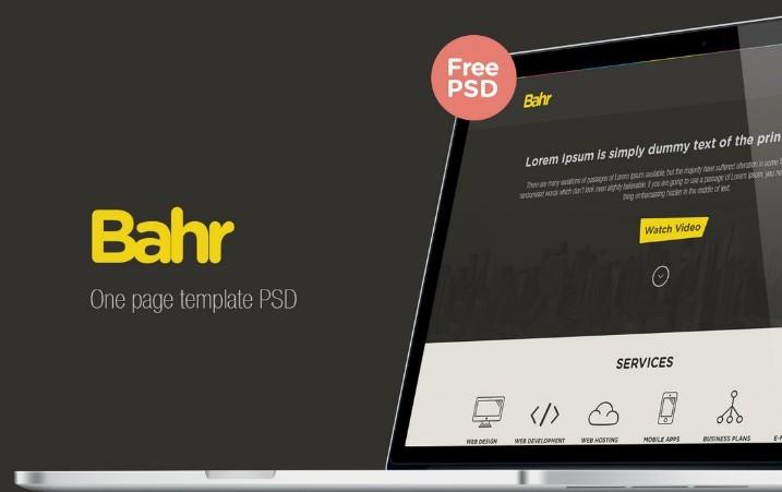 Bahr Free PSD Website Templates
