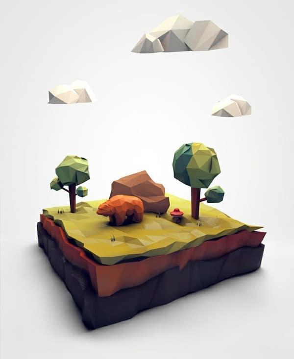 Low-Polygon-Artworks-Abduzeedo-Design-Inspiration
