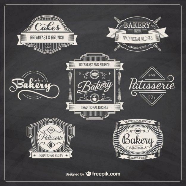 Bakery retro badges