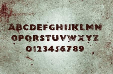 Grunge-font