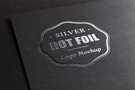 Logo-mockup-with-metallic-foil-printing