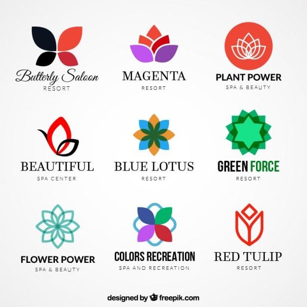 Variety-of-floral-logos