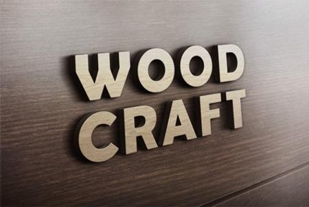 Wood-craft-logo-mockup