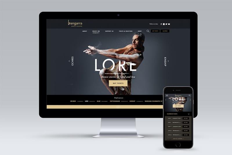 Bangarra Dance Web Design