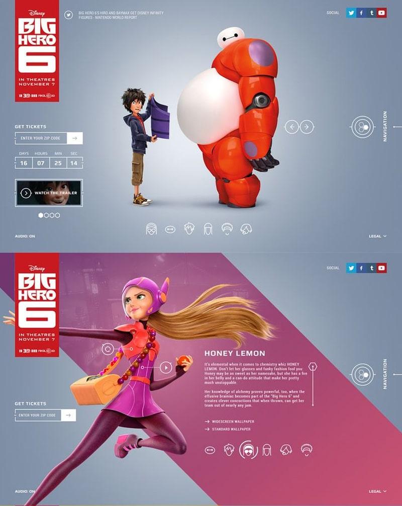 Big Hero 6 Web Design