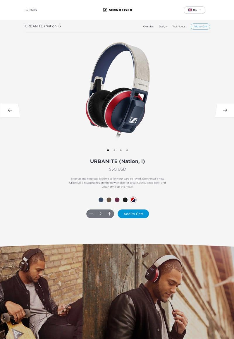 Sennheiser Product Page Modern Web Designs