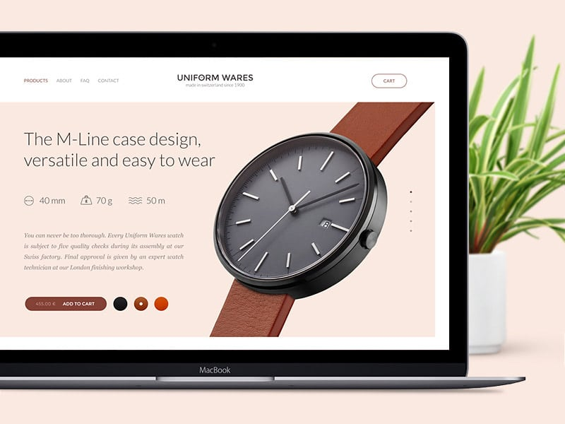 Uniform Wares Web Design