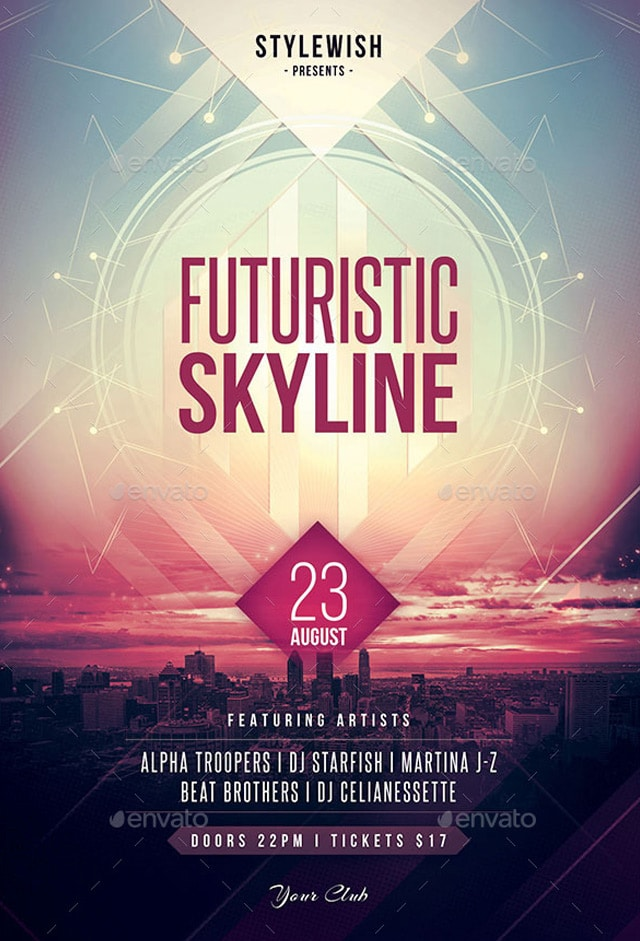 Futuristic-Skyline-Flyer