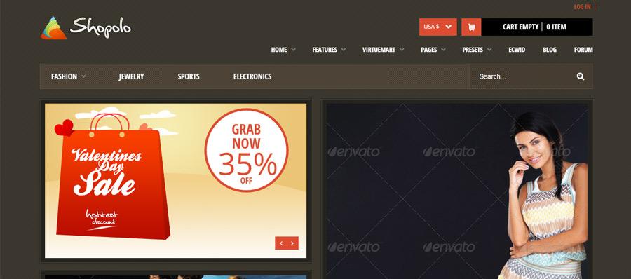 Shopolo – Responsive Joomla Shopping Template
