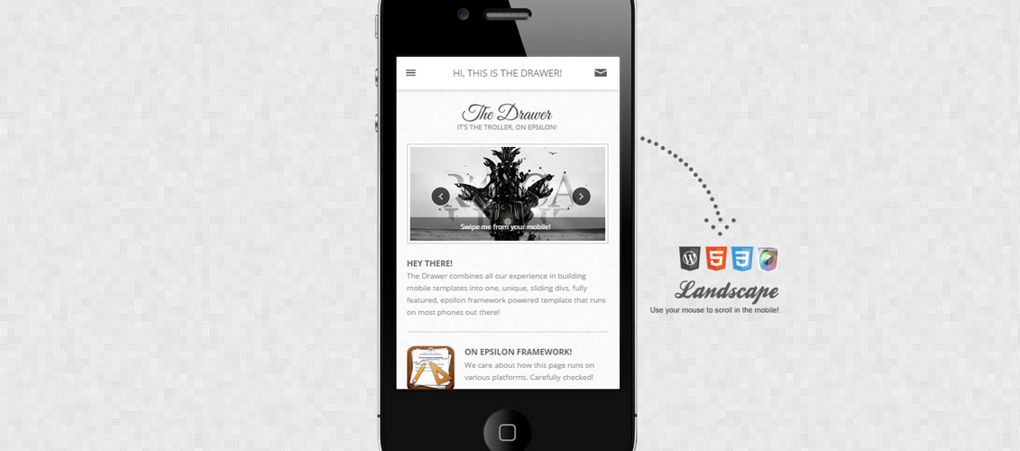 The Drawer Mobile WordPress Theme