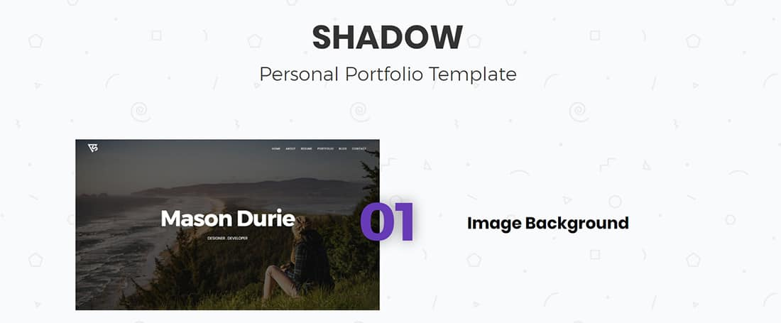 Shadow - Personal Portfolio Template