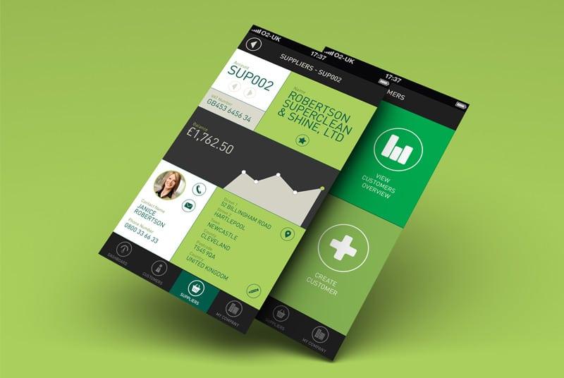 Accounting UI Mobile Charts