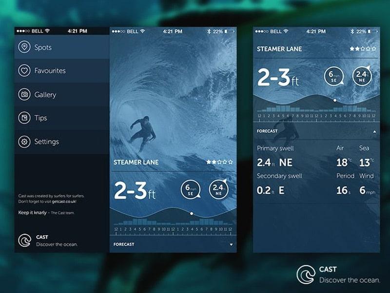 Cast Screens UI Mobile Charts