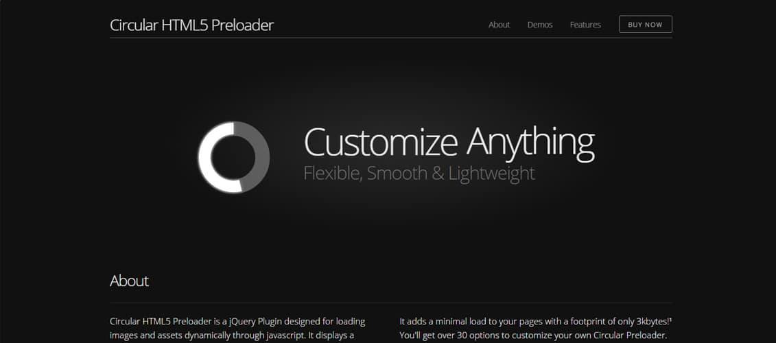 Circular HTML5 Preloader