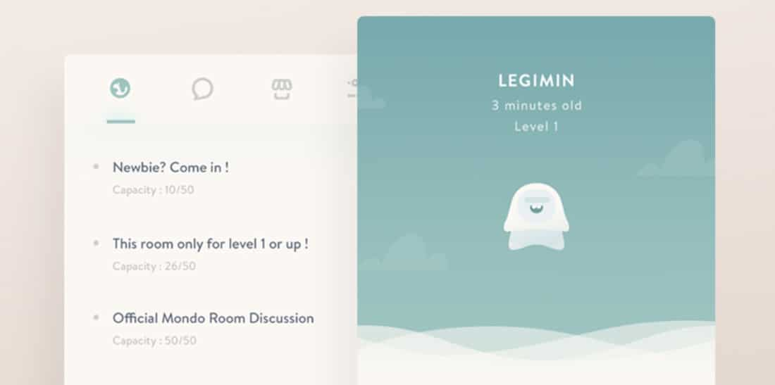 Mondo Concept UI Experiment Social Network Designs