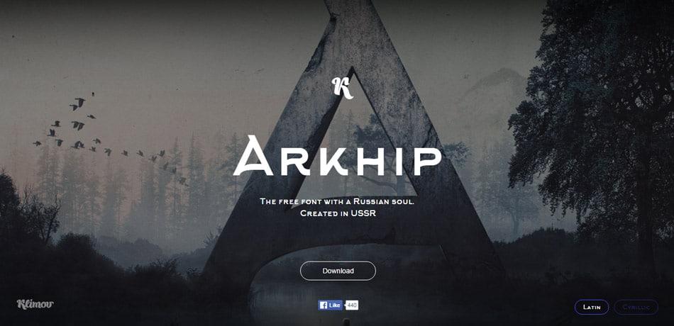 Arkhip Free Minimalist Font
