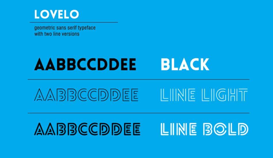 Lovelo Free Minimalist Font