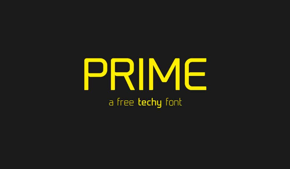 Prime Free Minimalist Fonts