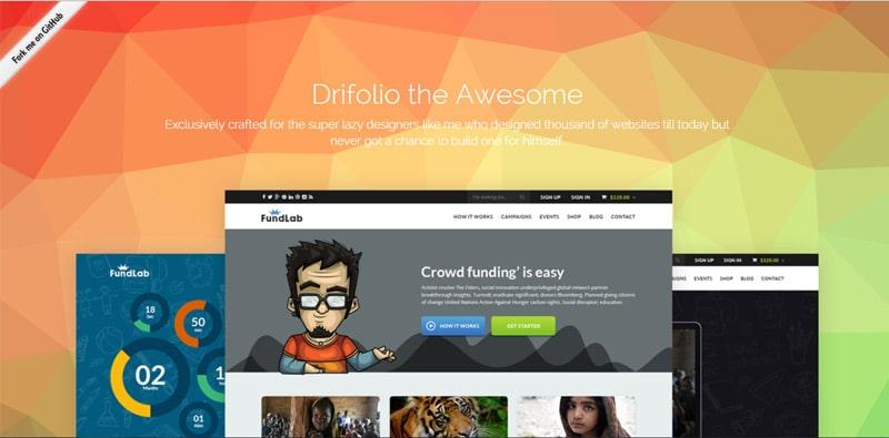Drifolio---Free-Responsive-Dribbble-Portfolio-Template