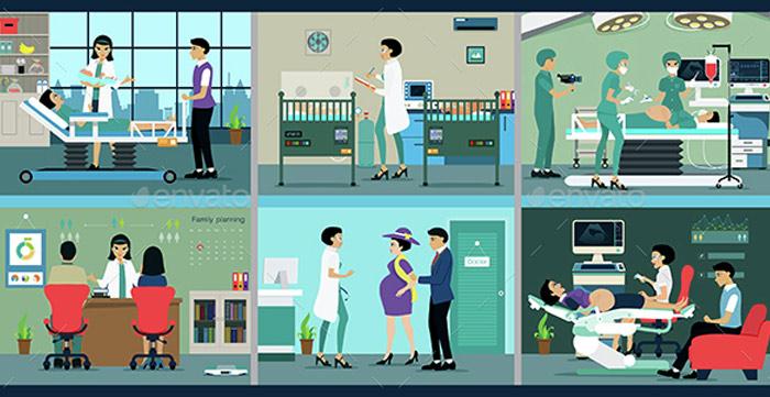 Pregnancy Conceptual Vector Packs