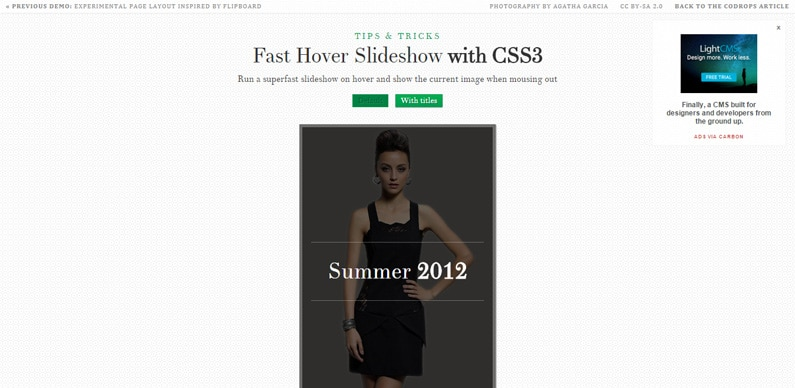 Fast Hover Slideshow