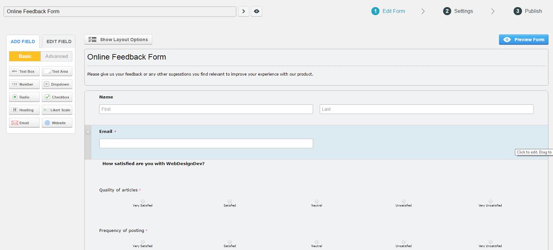 how-to-create-feedback-form-in-wordpress-step-2