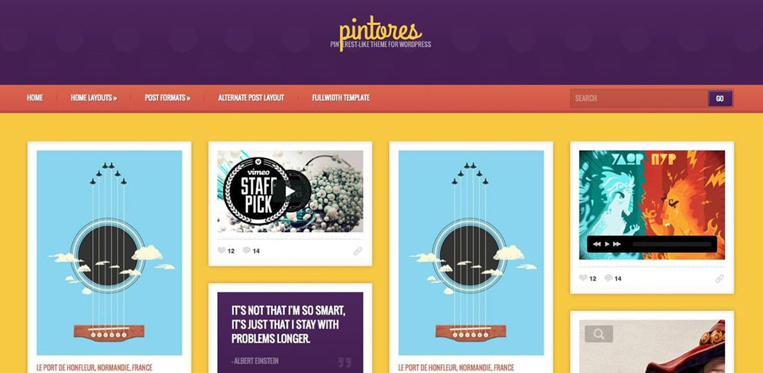 Pintores - Infinite Scrolling Board Template