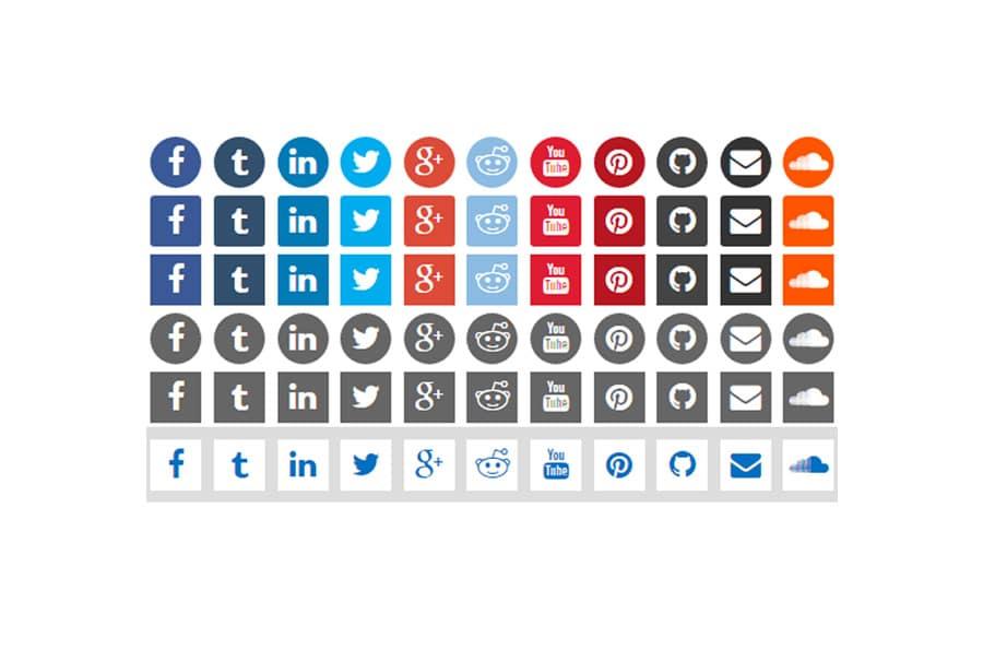 CSS3-Social-Icons