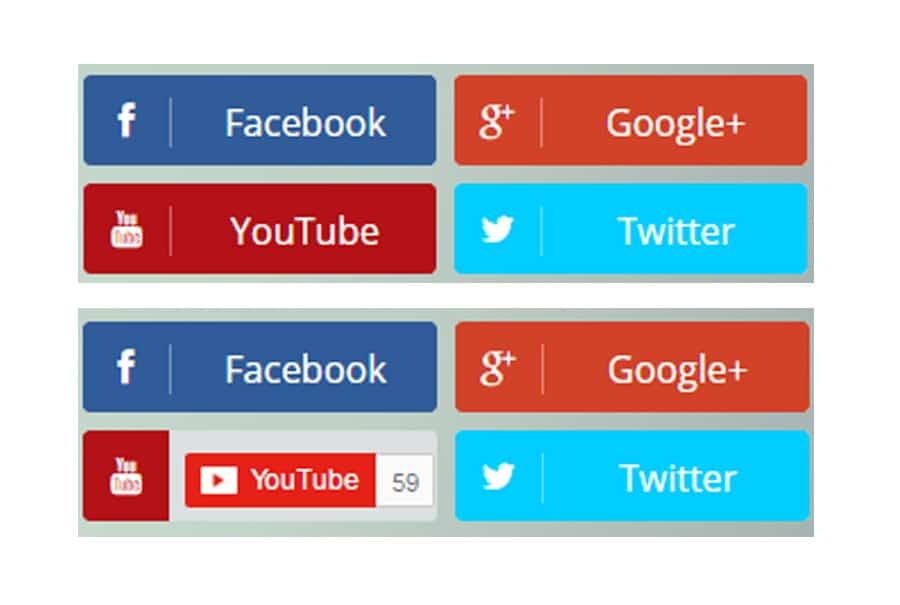 Social Share Subscribe widget