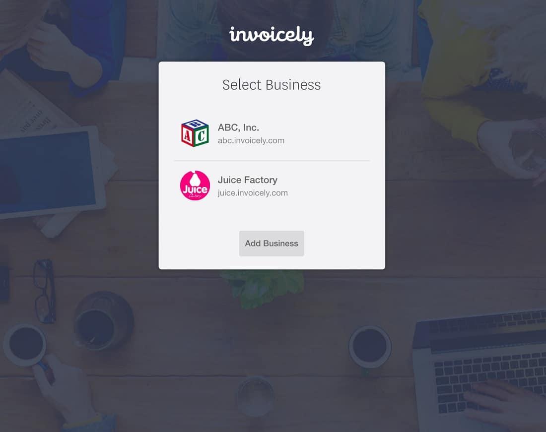 Invoice-multilple-businesses