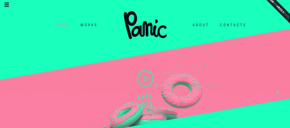 Panic pink website designs