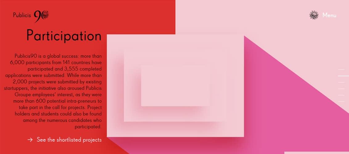 Publicis90 pink website designs