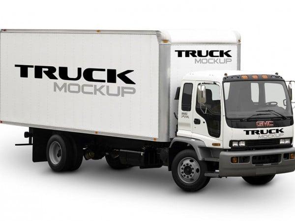 30 Big Truck Mockup