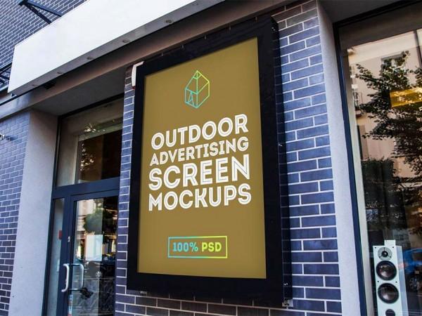 9 Outdoor Advertising Screen Mockup