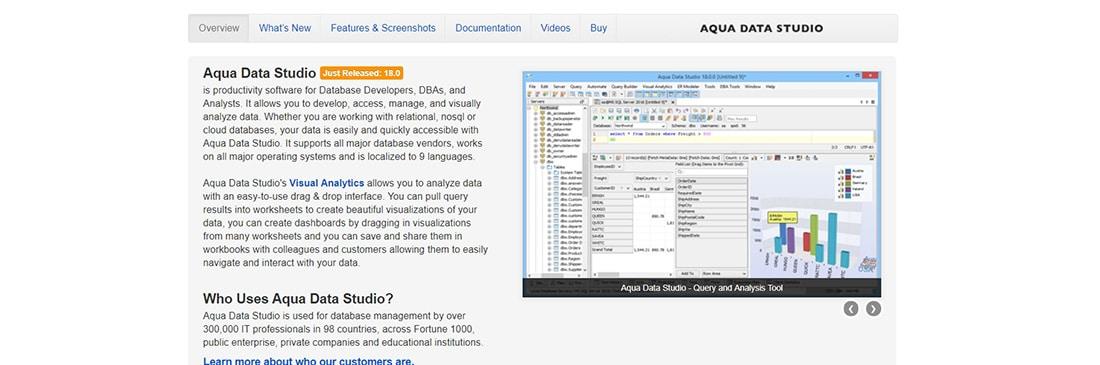 Aqua Data Studio _ Tool to develop, access, manage and visually analyze data