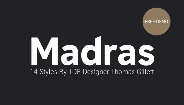 12 Madras free font