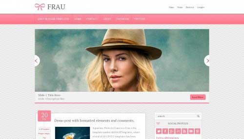 13-Frau-Blogger-Template