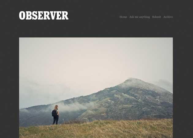 28 Observer Tumblr Theme