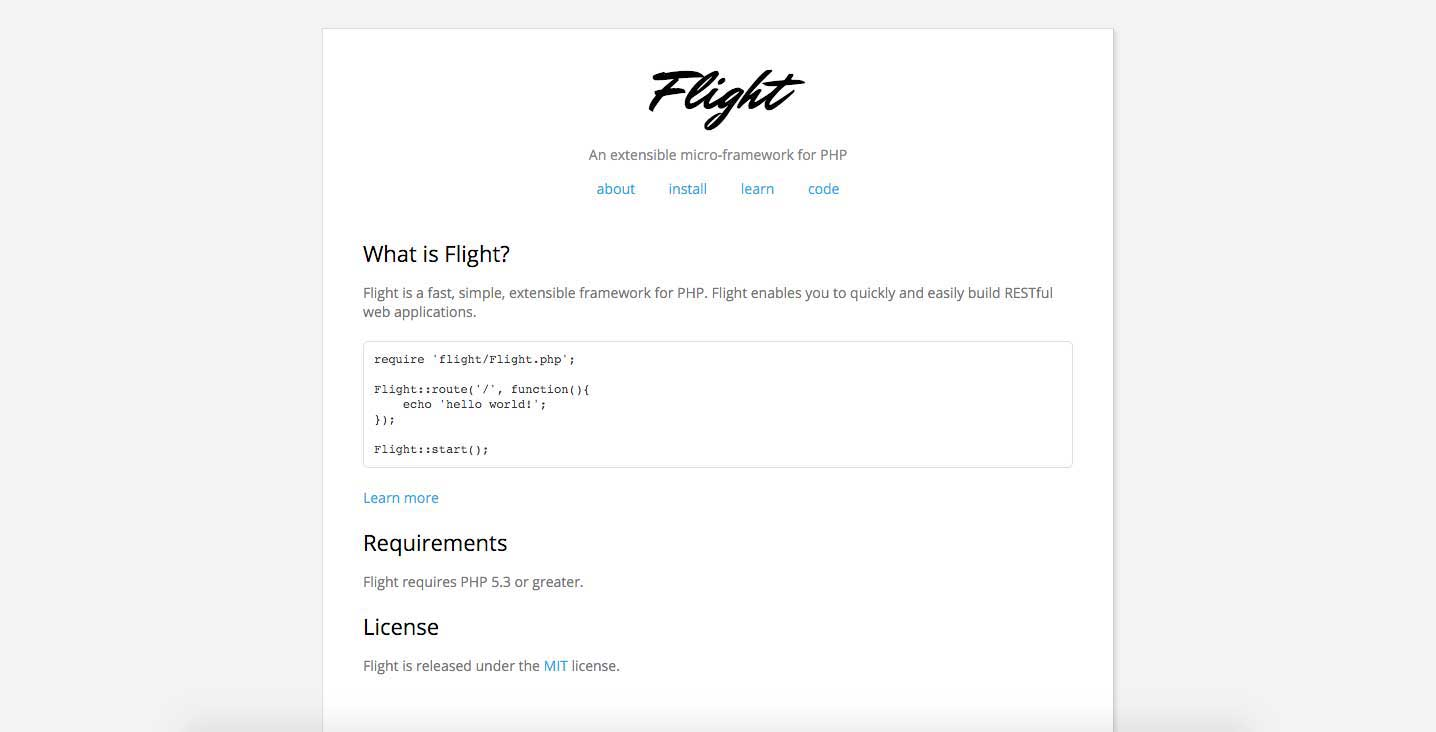 6-Flight-PHP PHP framework