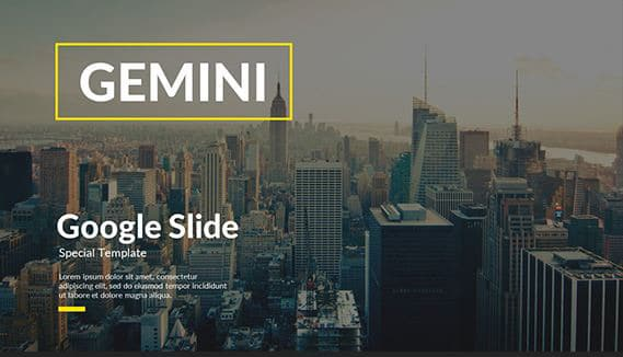 gemini-creative-google-slide-template
