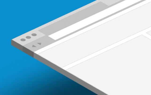 flat browser ui