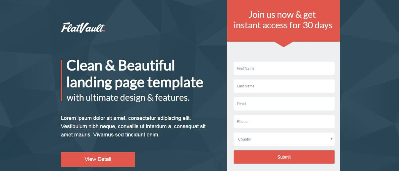 flat-vault-pagewiz-landing-page-template