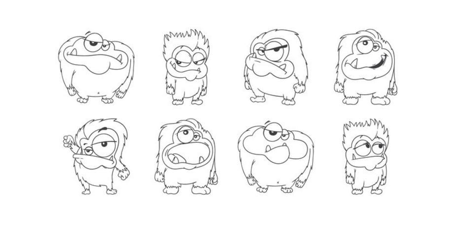 Free Cartoon Yeti Vector - Download Free Vector Art, Stock Graphics