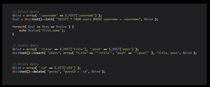PDO CRUD Class Preview - CodeCanyon